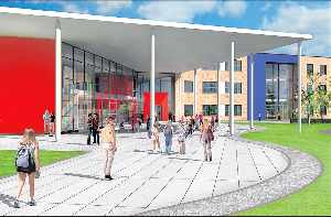 Artist impression of new Beaumont Leys School which officially opened this week